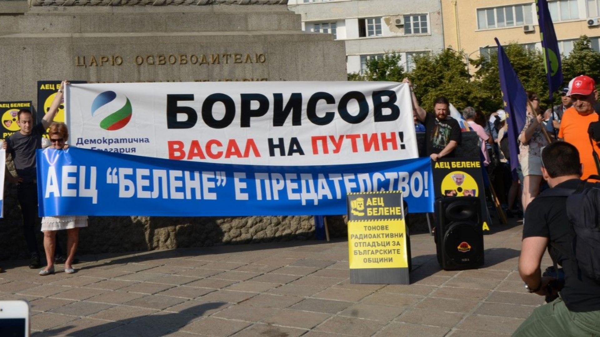 """Нов протест в София срещу АЕЦ """"Белене""""  (снимки)"""