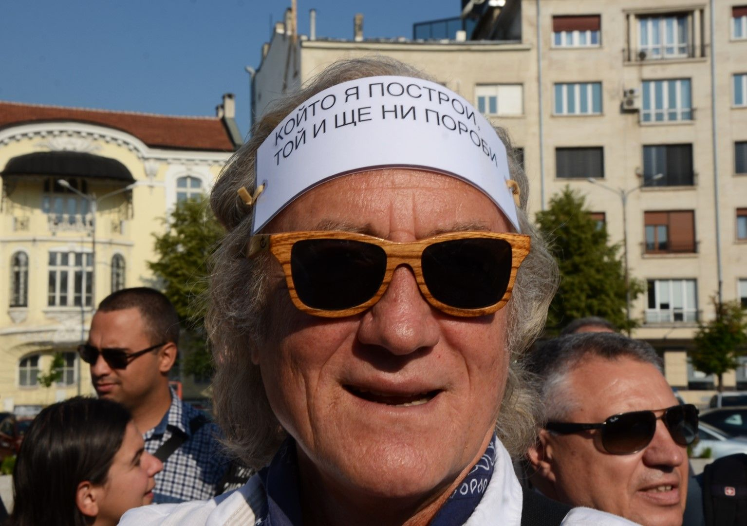 Иво Инджев на протеста
