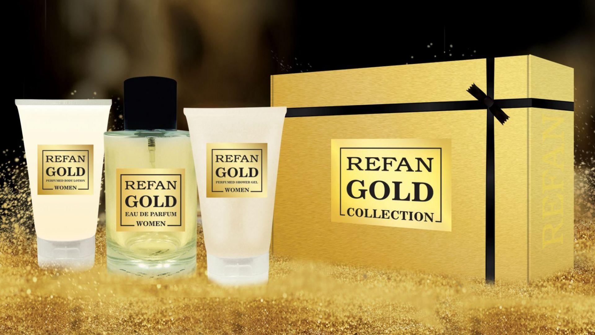 Kомплект Refan Gold Collection осигурява нежна и ароматна грижа за кожата
