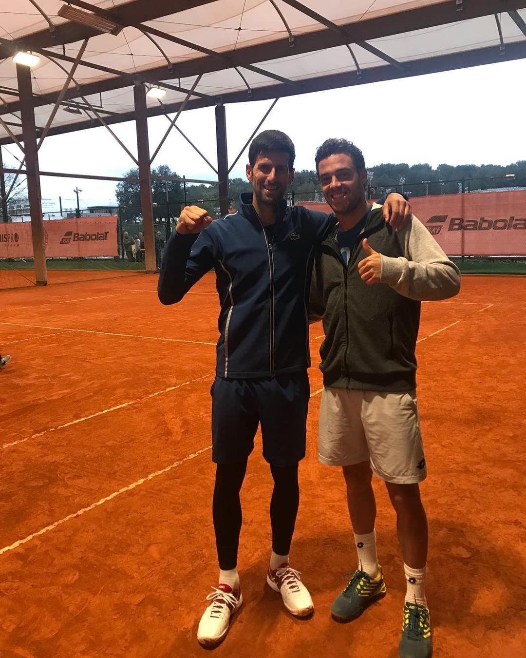 И пак с Ноле, но вече през тази година - двамата тренираха заедно преди турнира в Монте Карло.