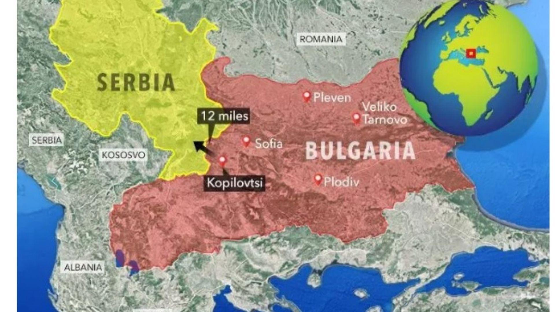 Картата на Сън, според която Македония е българска