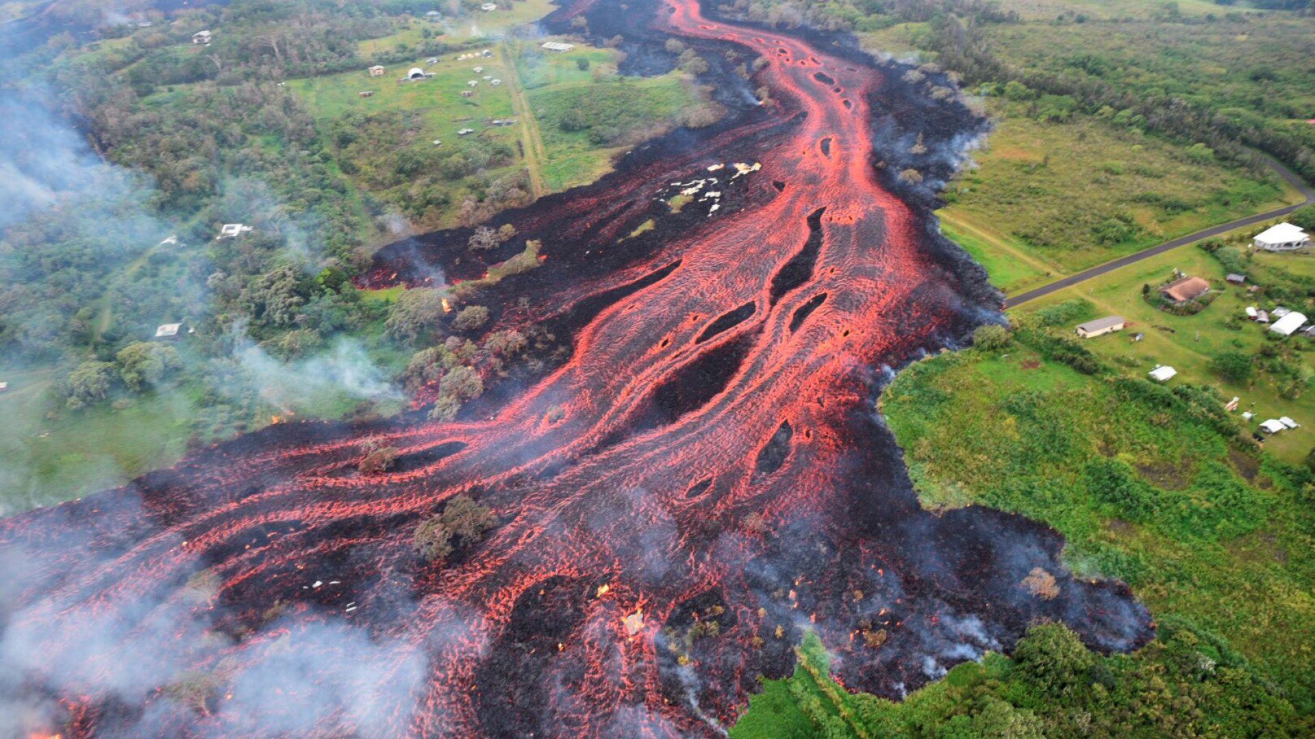 Вулканът на Хаваите премести цял квартал 800 м навътре в океана