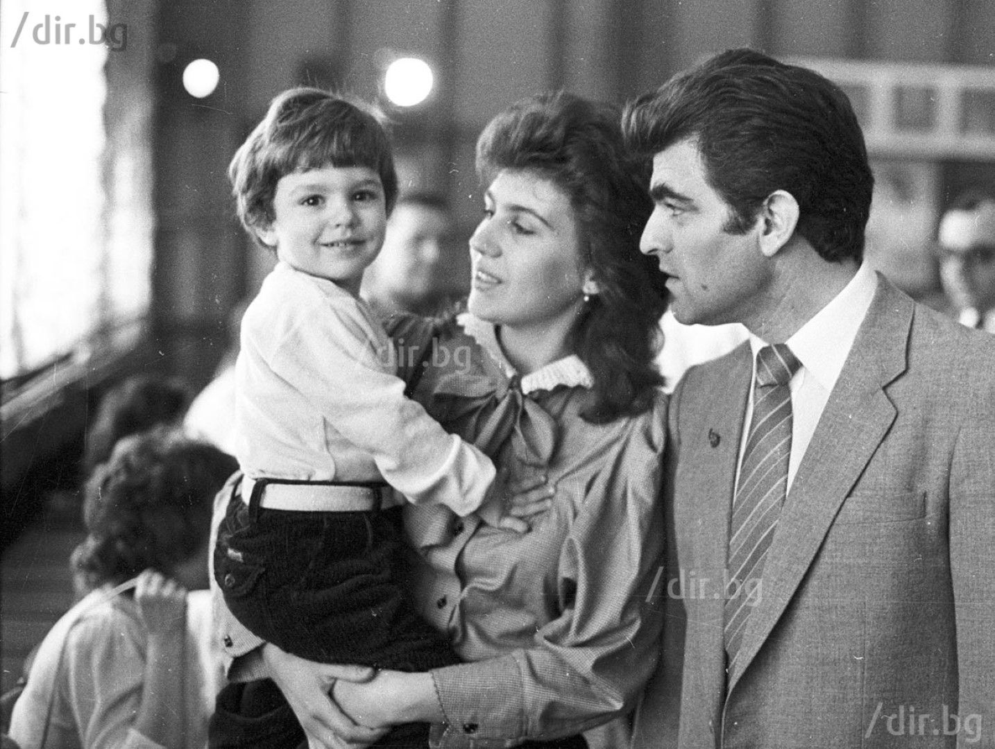Александър Александров със своето семейство