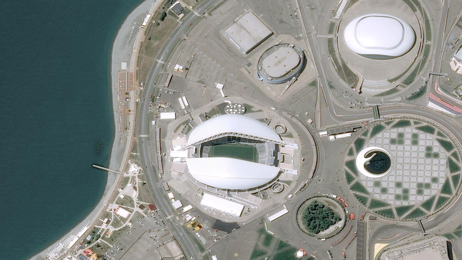 Вижте стадионите на Мондиала, снимани от Космоса (галерия)