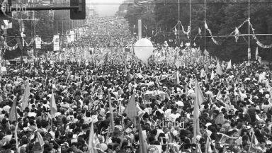 Митингът на СДС на Орлов мост след 28 години (снимки)