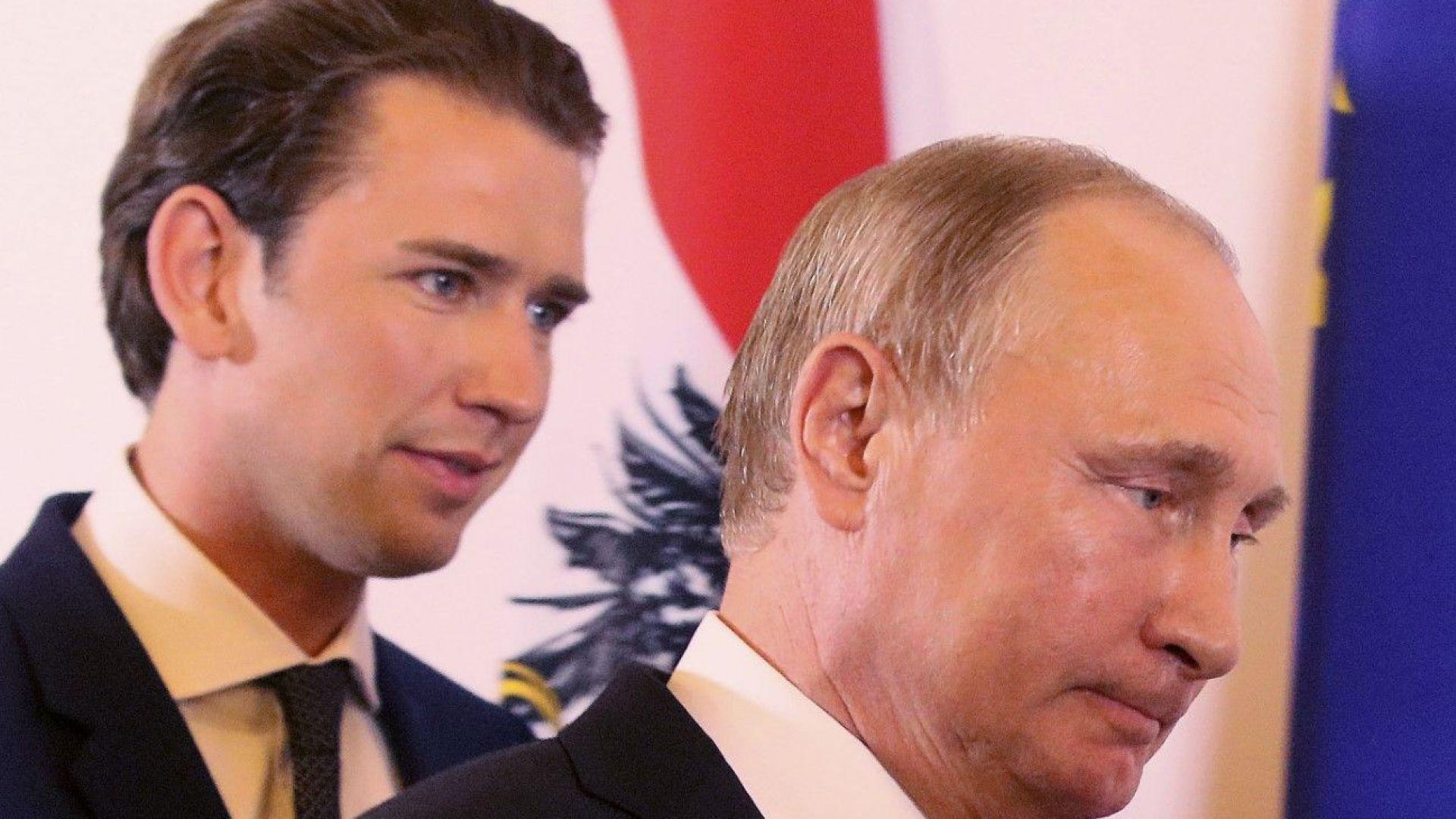 """Помолен от Путин, Курц му урежда среща с Тръмп, пише """"Уолстрийт джърнъл"""""""
