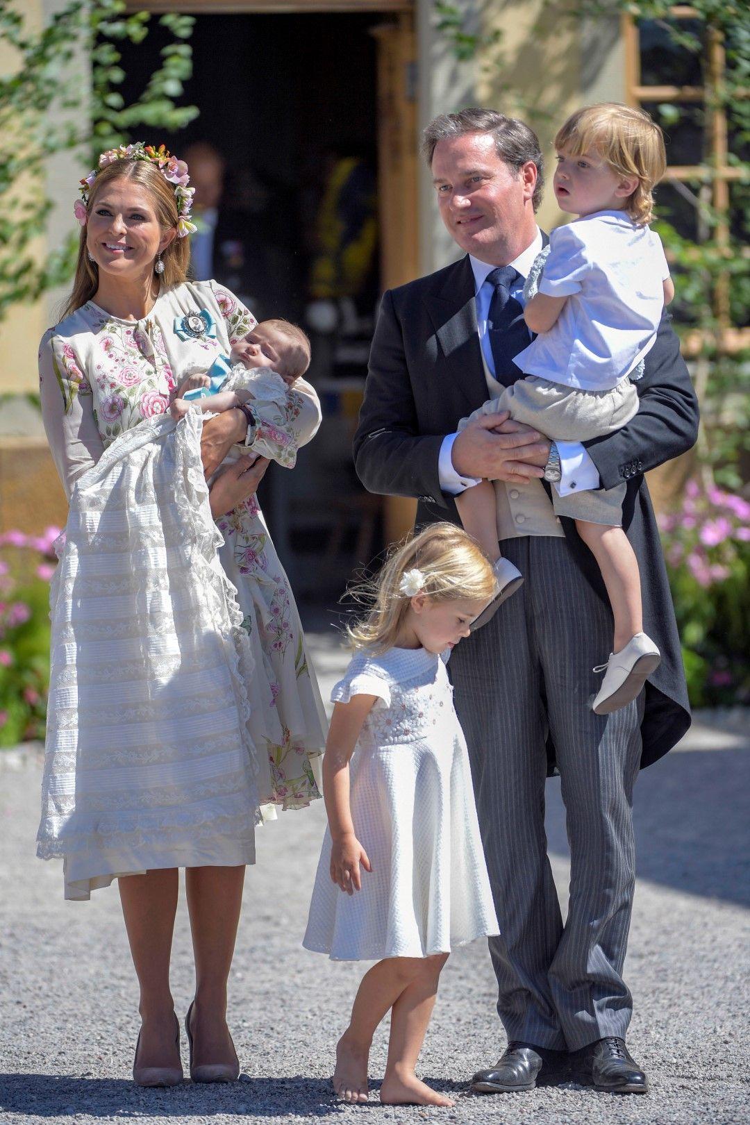 Принцеса Маделин, Крис О'Нийл, принцеса Адриен, принц Николас и принцеса Леонор