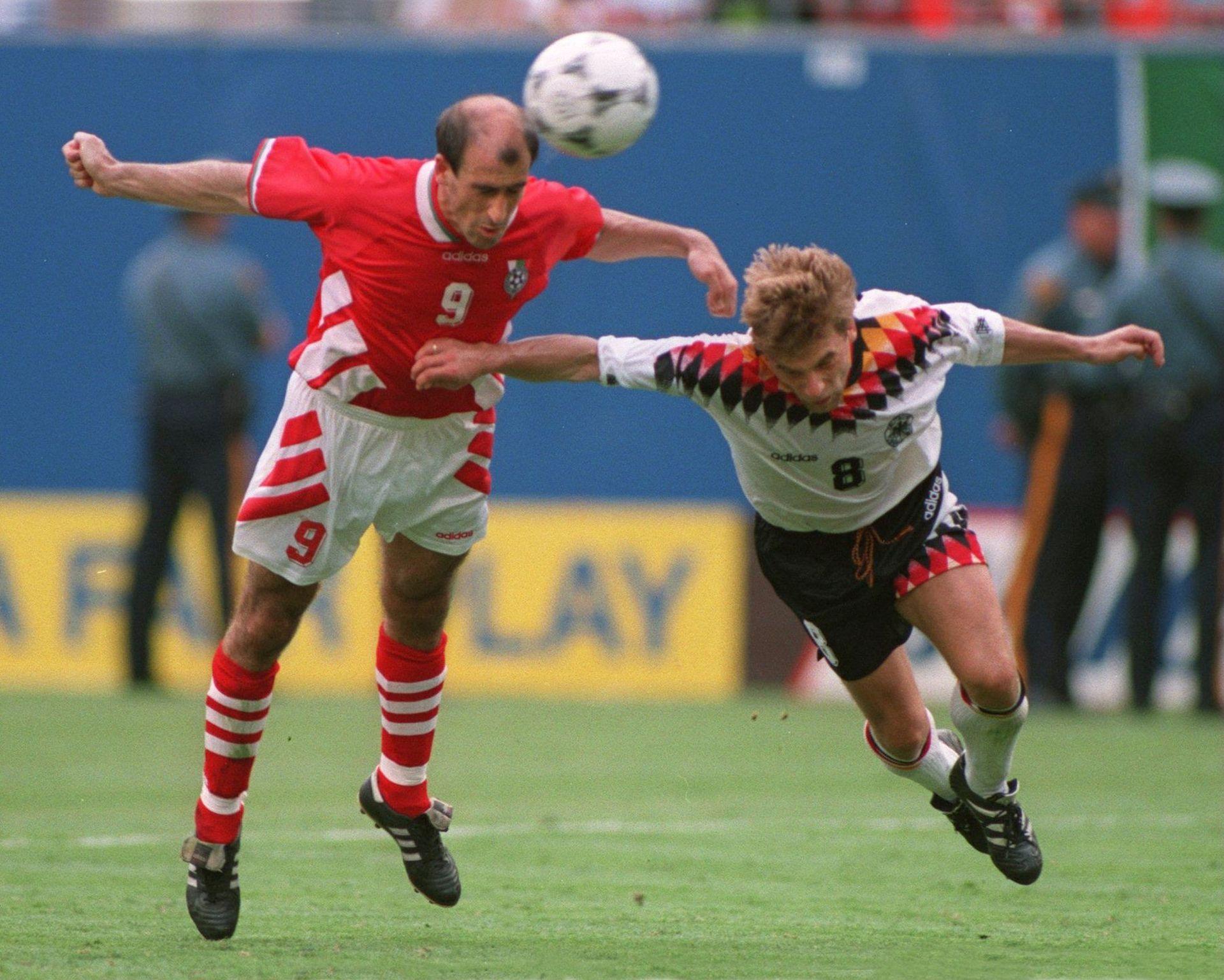 Голът на Лечков, разтърсил света на футбола.