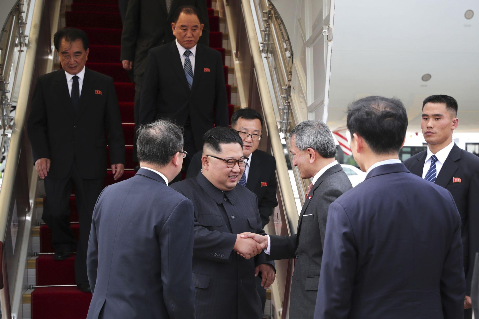 Посрещане на Ким Чен-ун в Сингапур