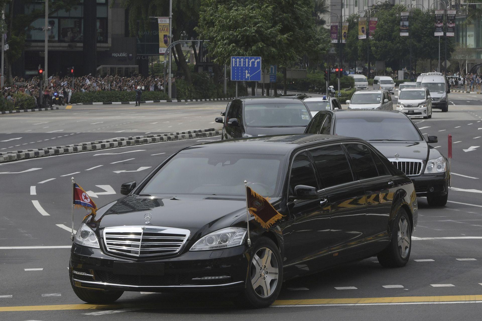 Бронираният мерцедес на Ким Чен-ун