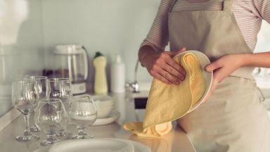 Употребата на кърпи за бърсане на чинии може да доведе до хранително отравяне