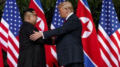 """Тръмп получил """"страхотно"""" писмо и очаква нова среща с Ким Чен-ун"""