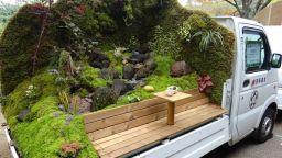 Превръщат камиони в Япония в уникални градини