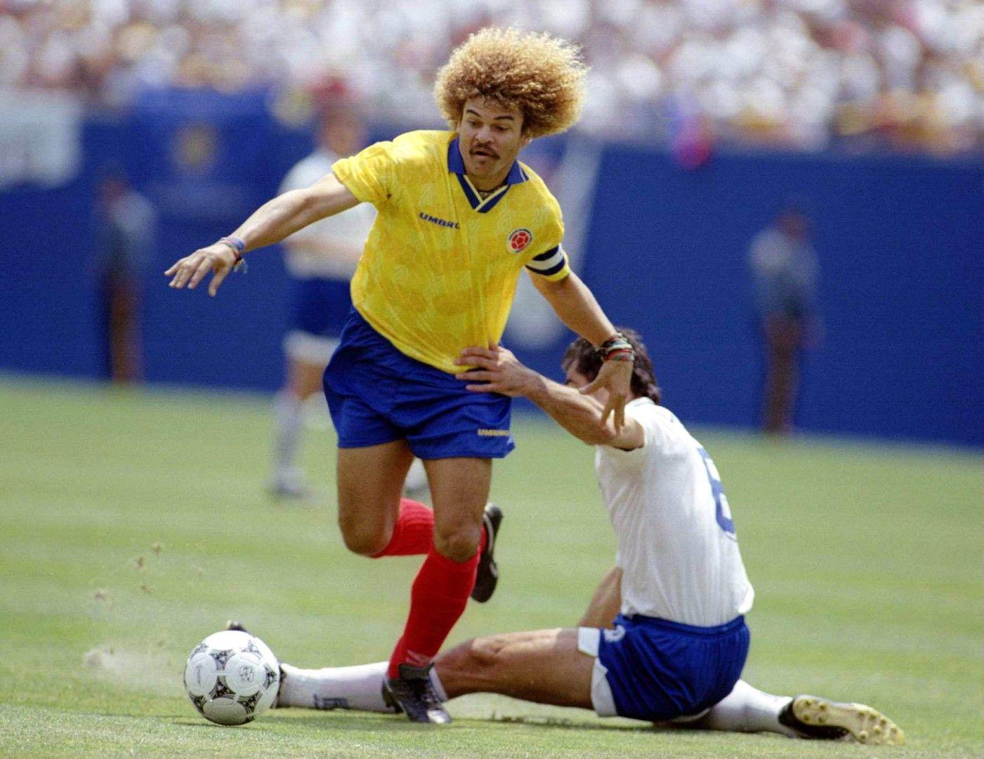 Карлос Валдерама бе звездата на онзи колумбийски отбор.
