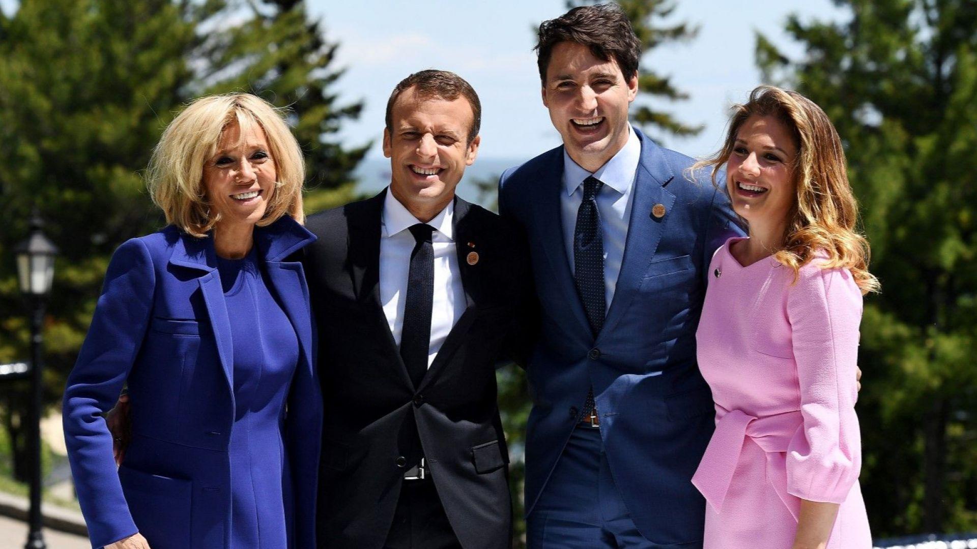 Едноцветни тоалети, грация и стил показаха дамите на срещата на Г-7 в Канада