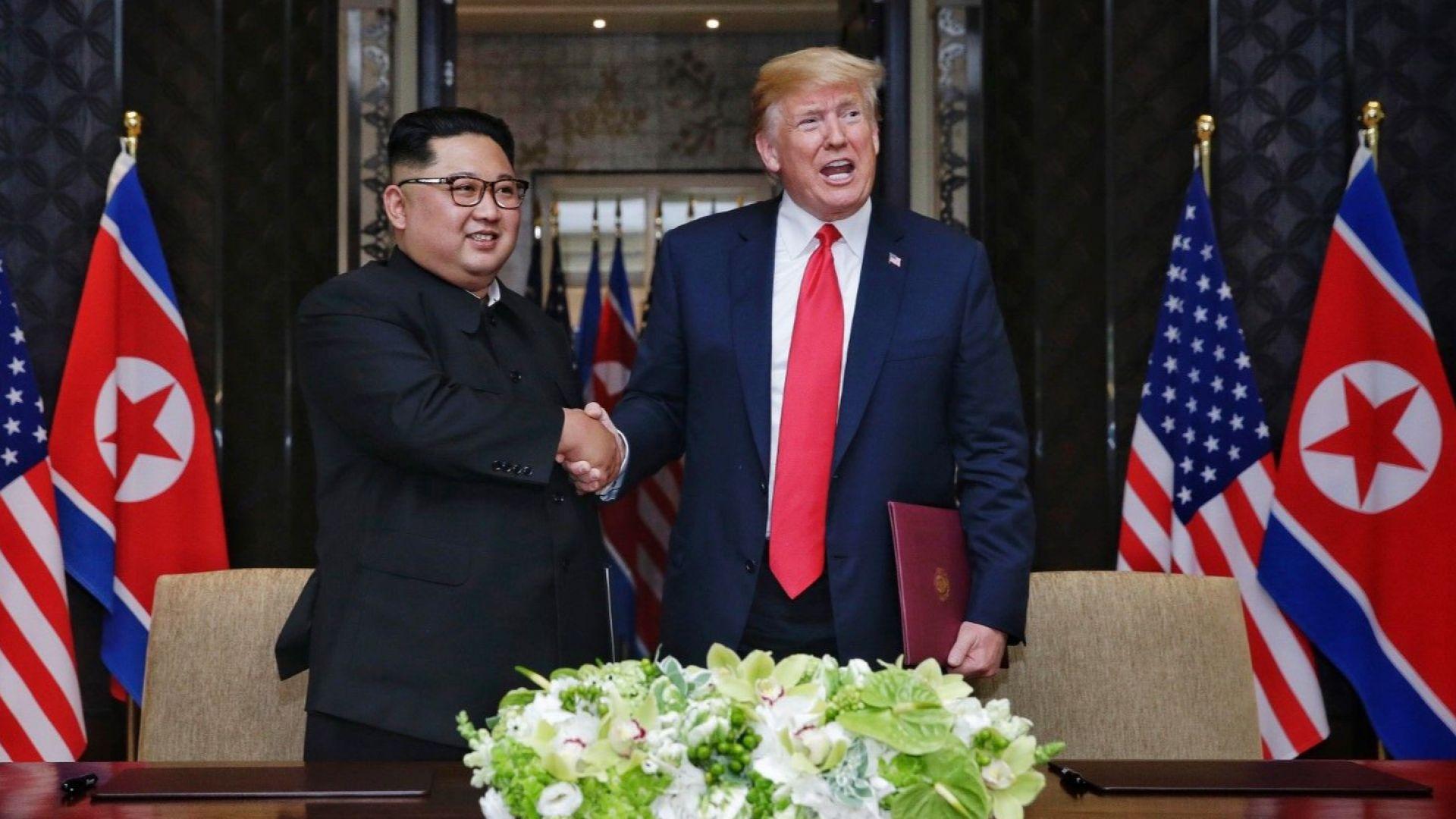Тръмп показал на Ким видеоклип за бъдещото (снимки)