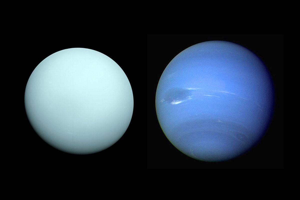 Нептун, сравнен с Уран