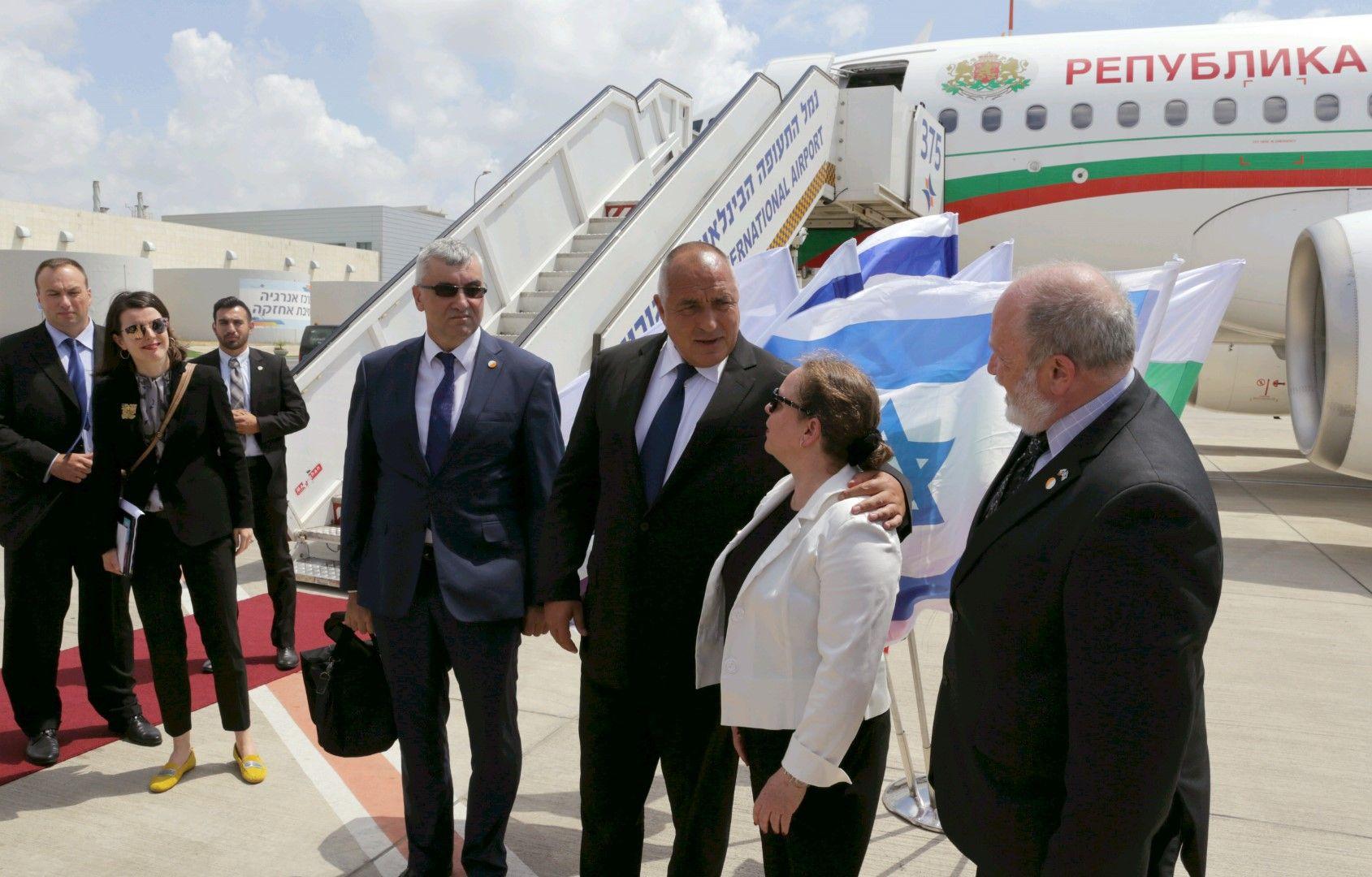 Бойко Борисов беше посрешнат от Ирит Лилиан, посланик на Израел в България