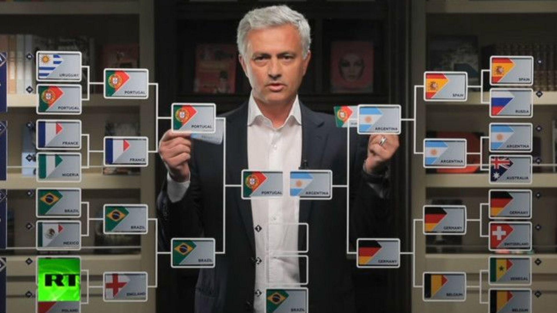Прогнозата на Моуриньо: Меси и Роналдо на финал