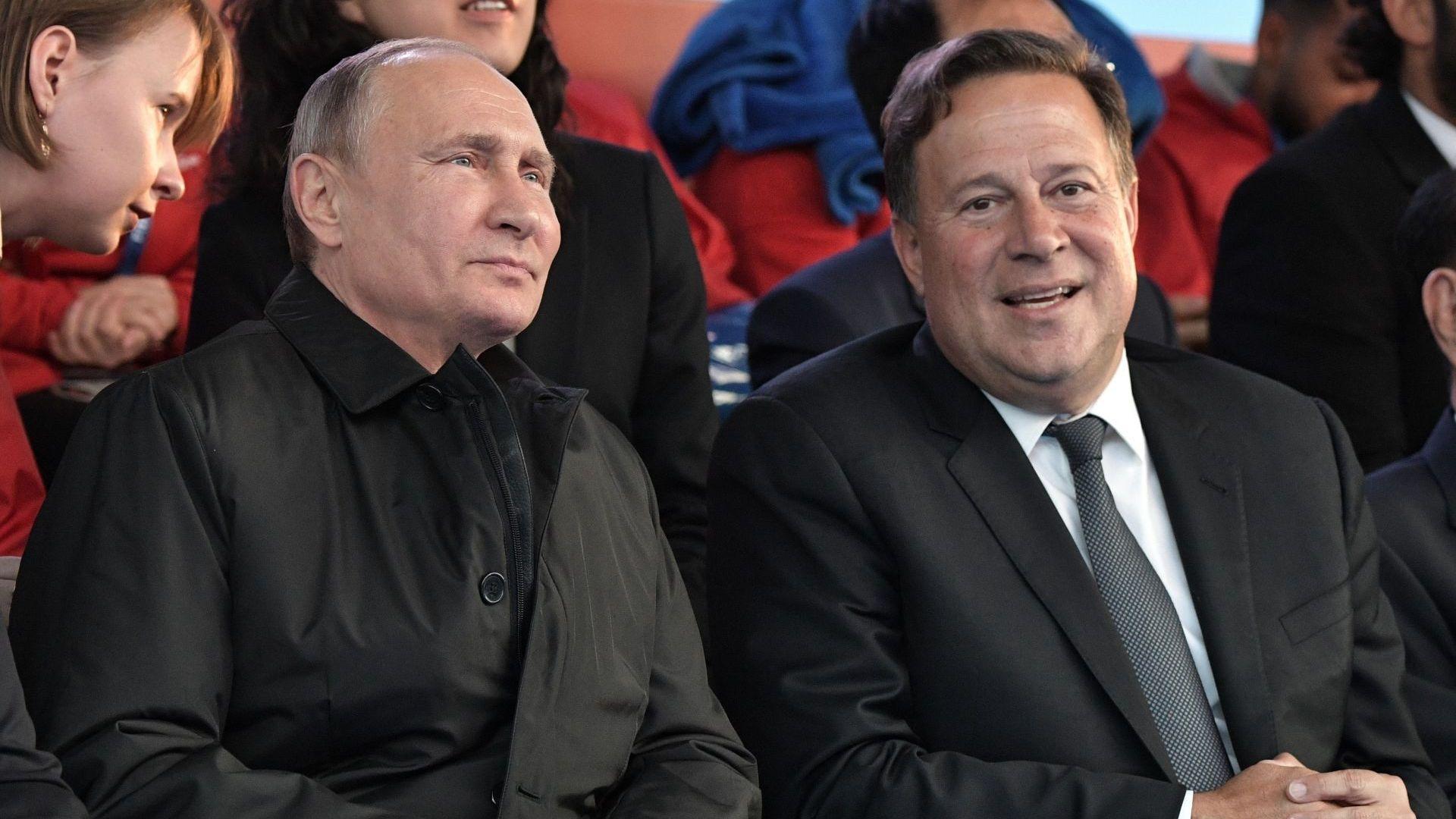 Владимир Путин и президентът на Панама Хуан Карлос Варела