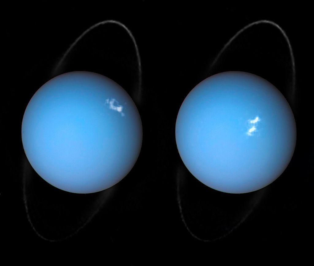 """Снимка на """"Хъбъл"""" от 2005 г. на Уран"""