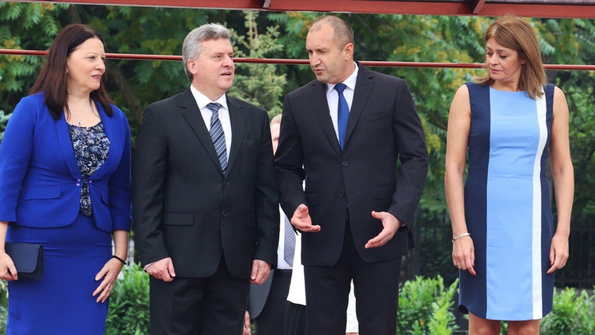 Радев призова македонския президент да възобнови диалога за името