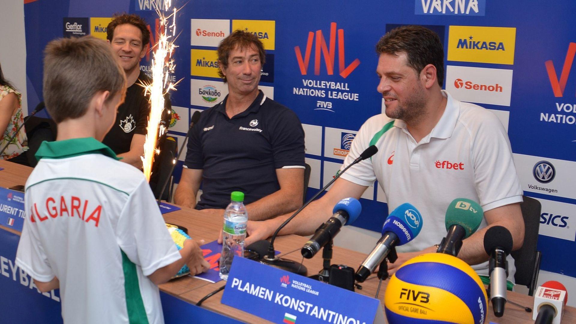 Константинов: Искаме да играем равностойно срещу силните отбори