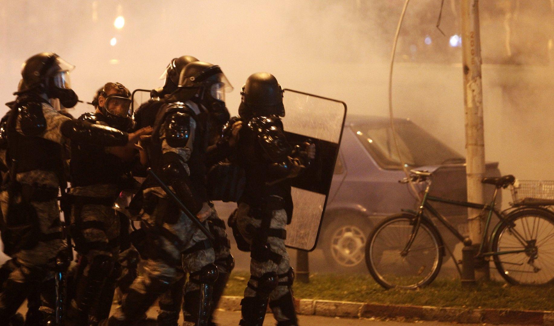 Демонстрантите бяха разпръснати със сълзотворен газ