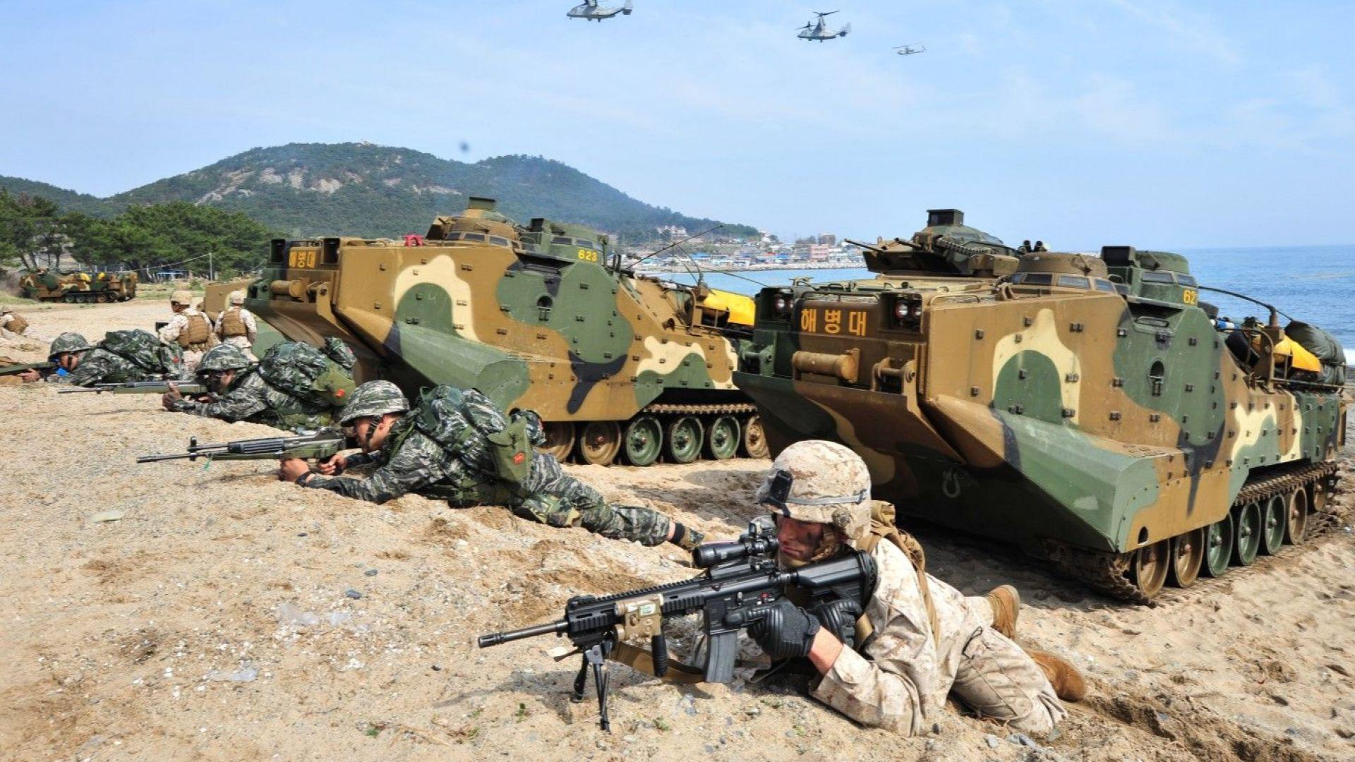 Южна Корея започна военни учения за защита от Япония