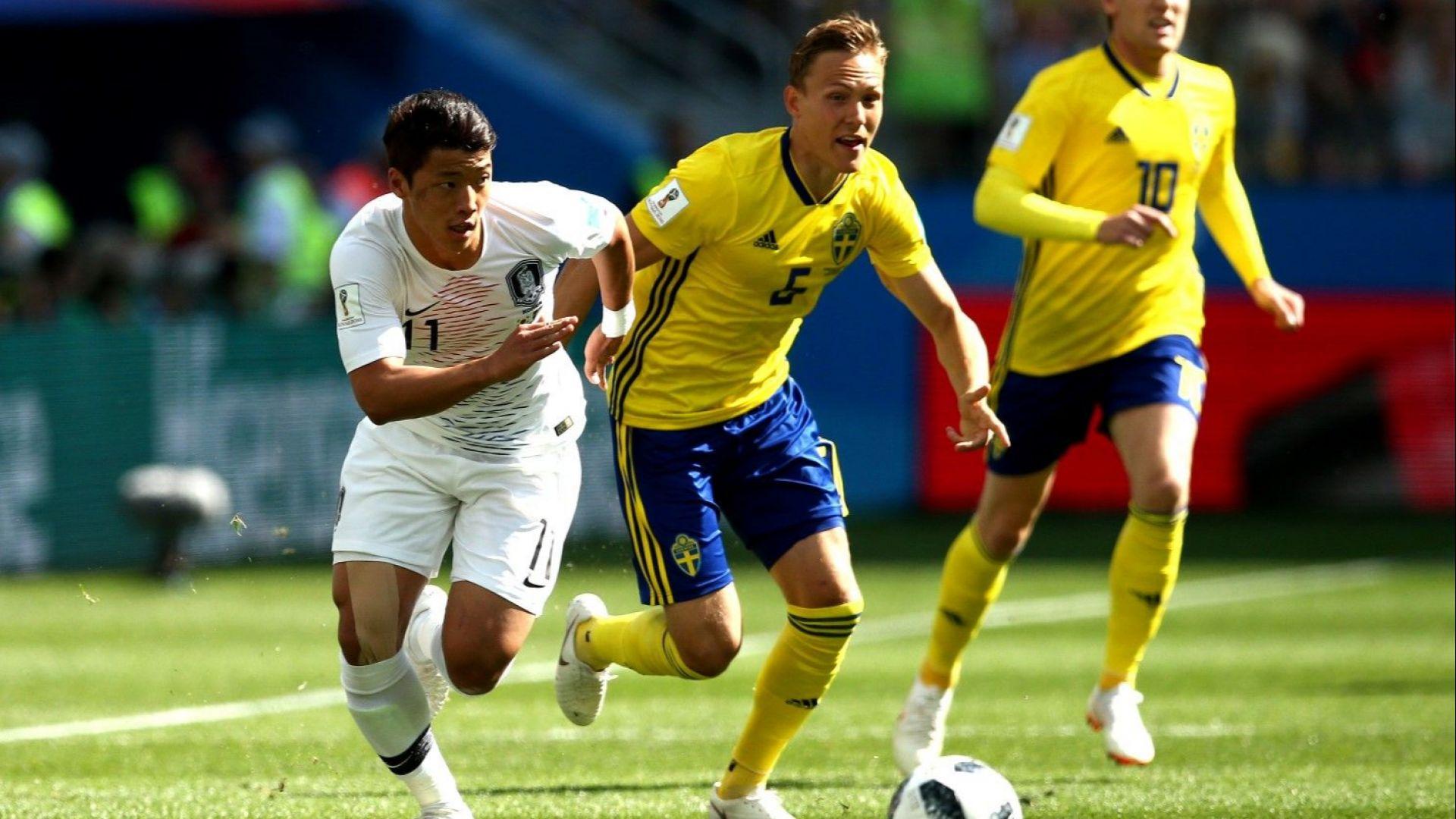 Швеция - Южна Корея 1:0 (статистики)