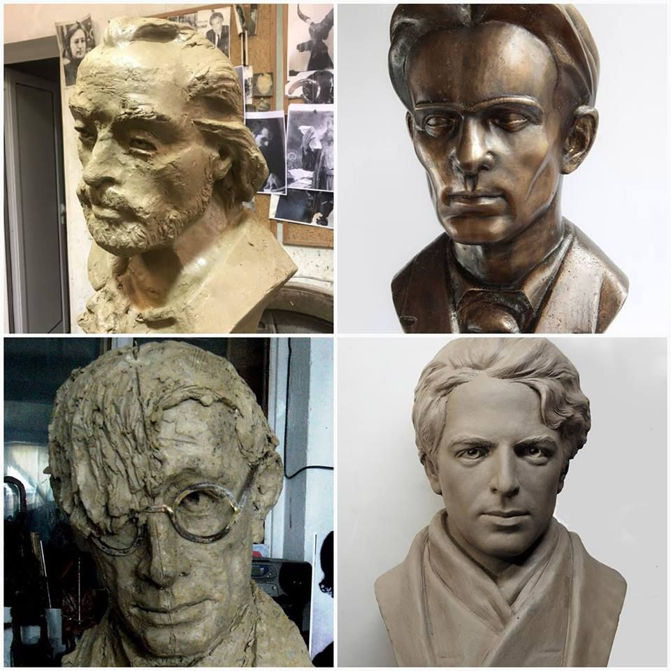 Четирите паметника в Алеята на кирилицата