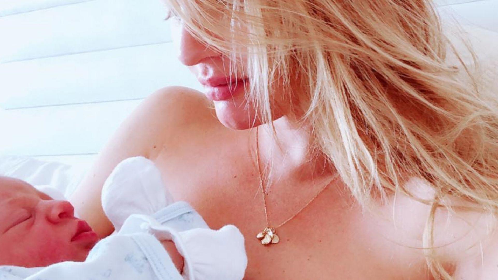 Манекенката Кандис Суанепул роди момче