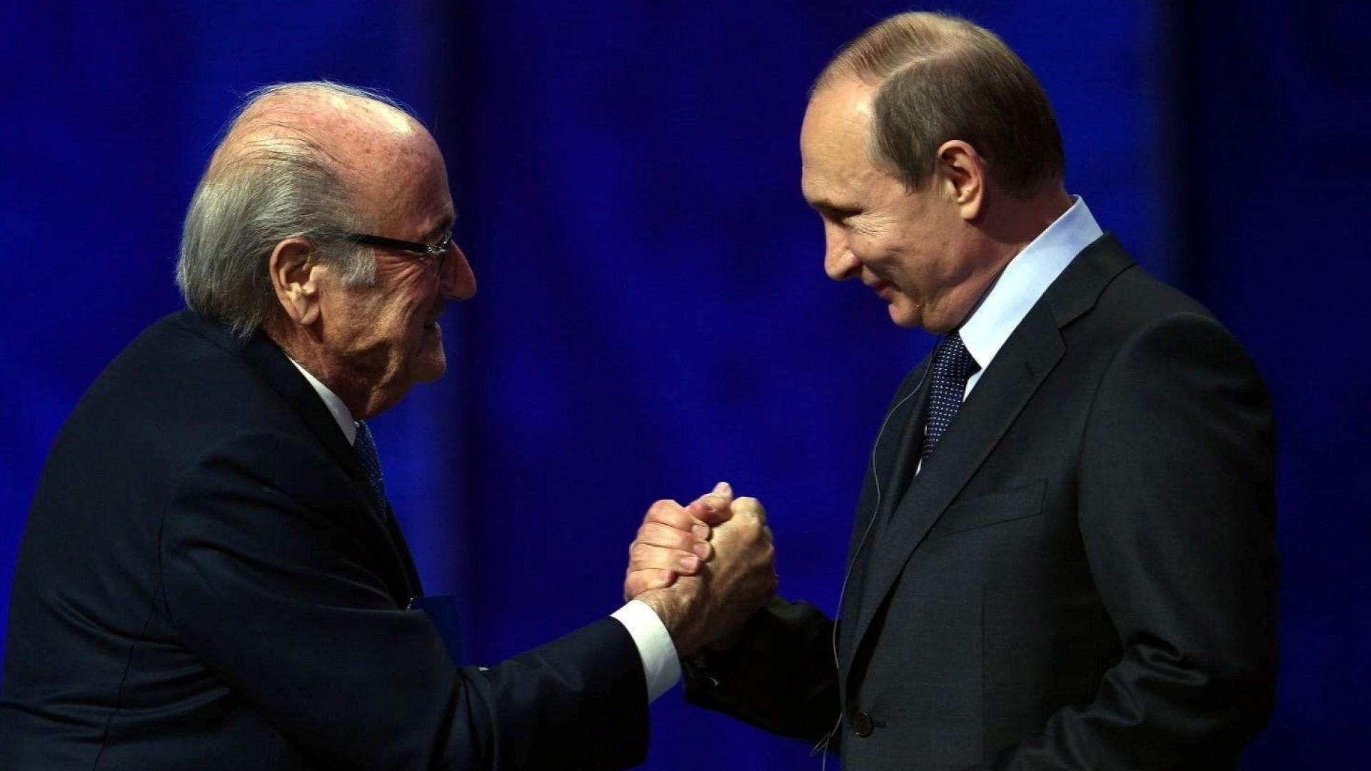 Изгоненият Блатер е специален гост на Путин за Мондиала