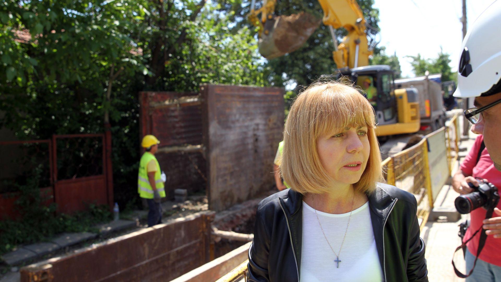 Фандъкова: Изградихме 200 км ВиК в София