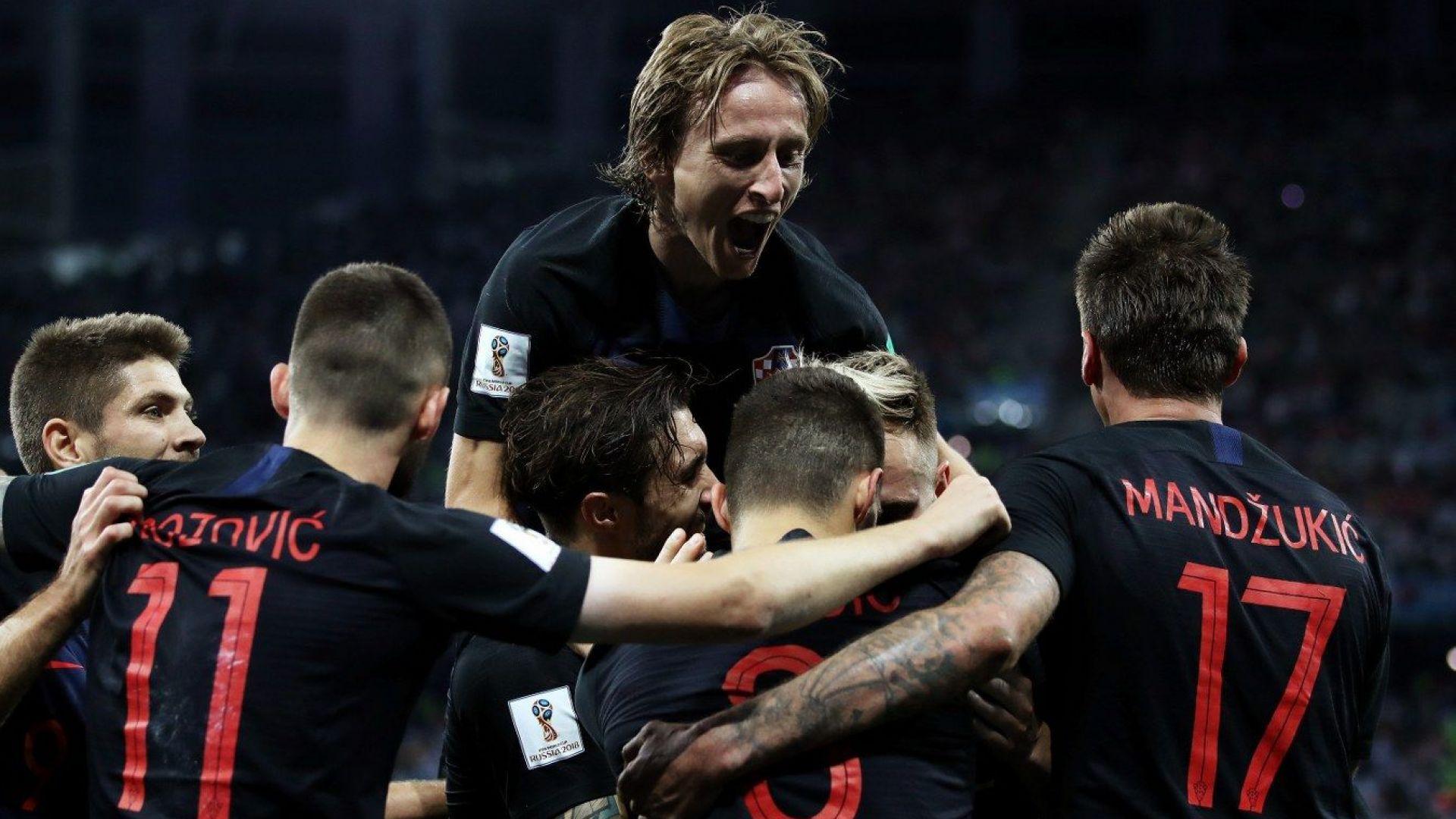 """Аржентина и Меси потъват като """"Титаник"""", Хърватия ги нокаутира"""