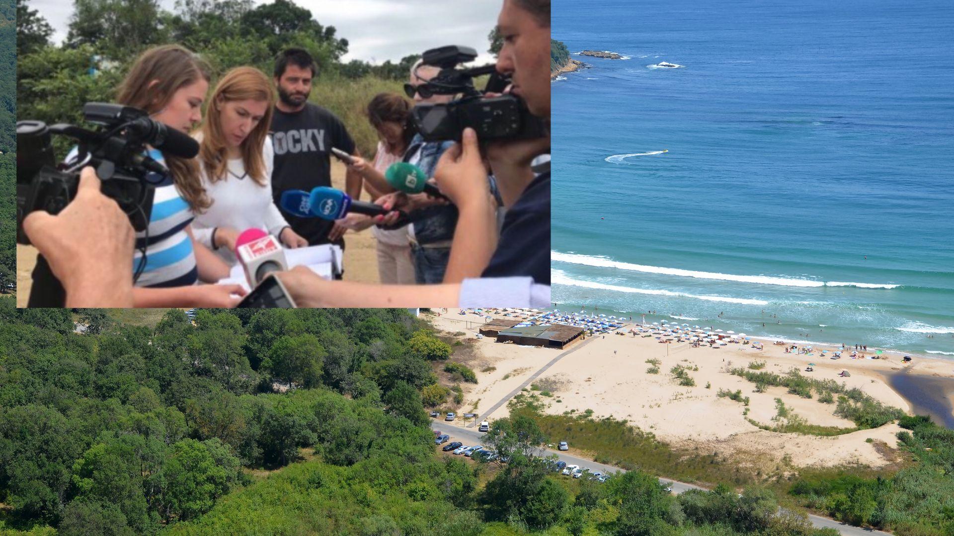 Ангелкова провери плаж Перла, изискването за 50% свободна зона е спазено