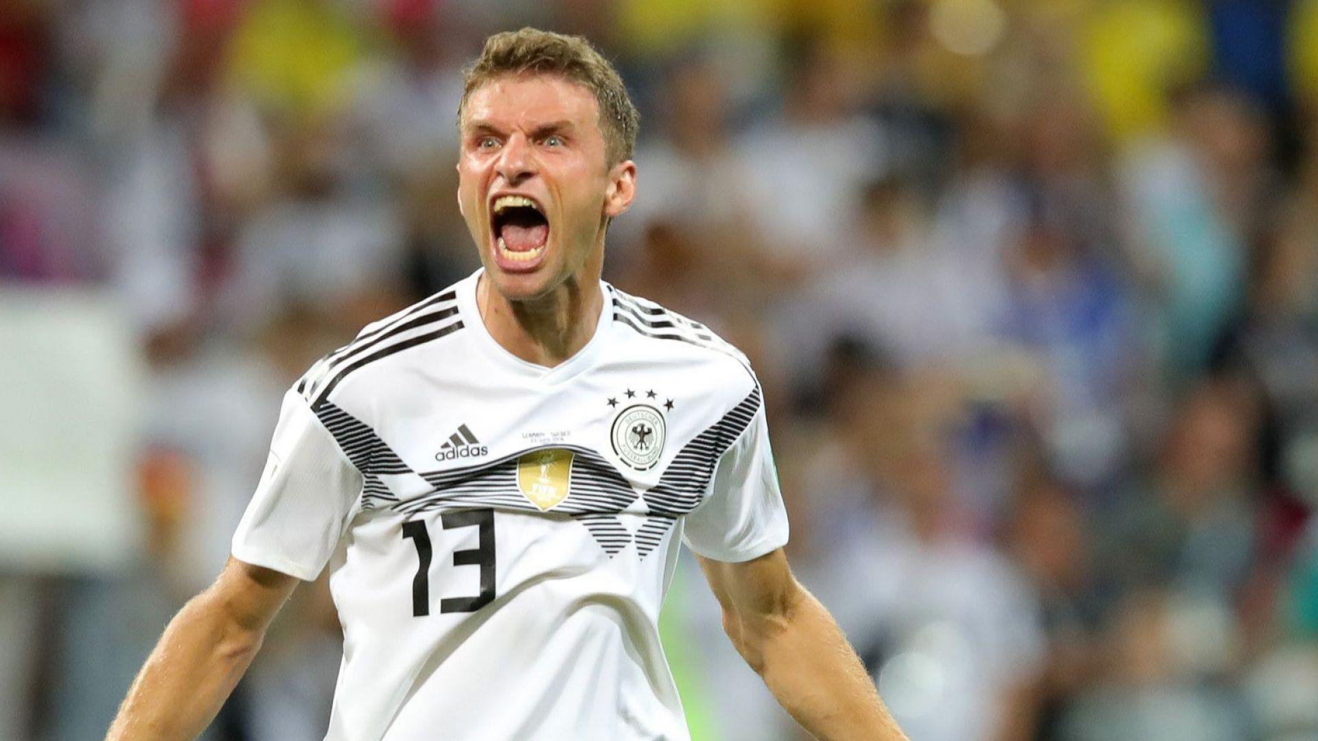 Германия се спаси 15 секунди преди края в луд, луд мач