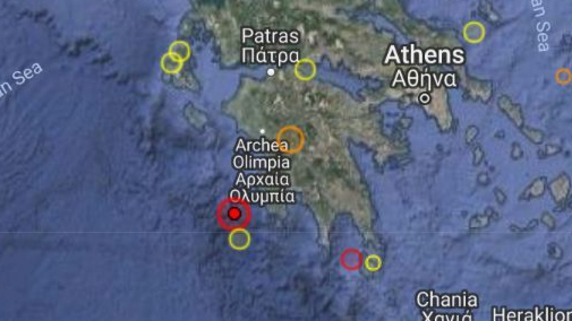 Земетресение от 5,5 по Рихтер разлюля Южна Гърция