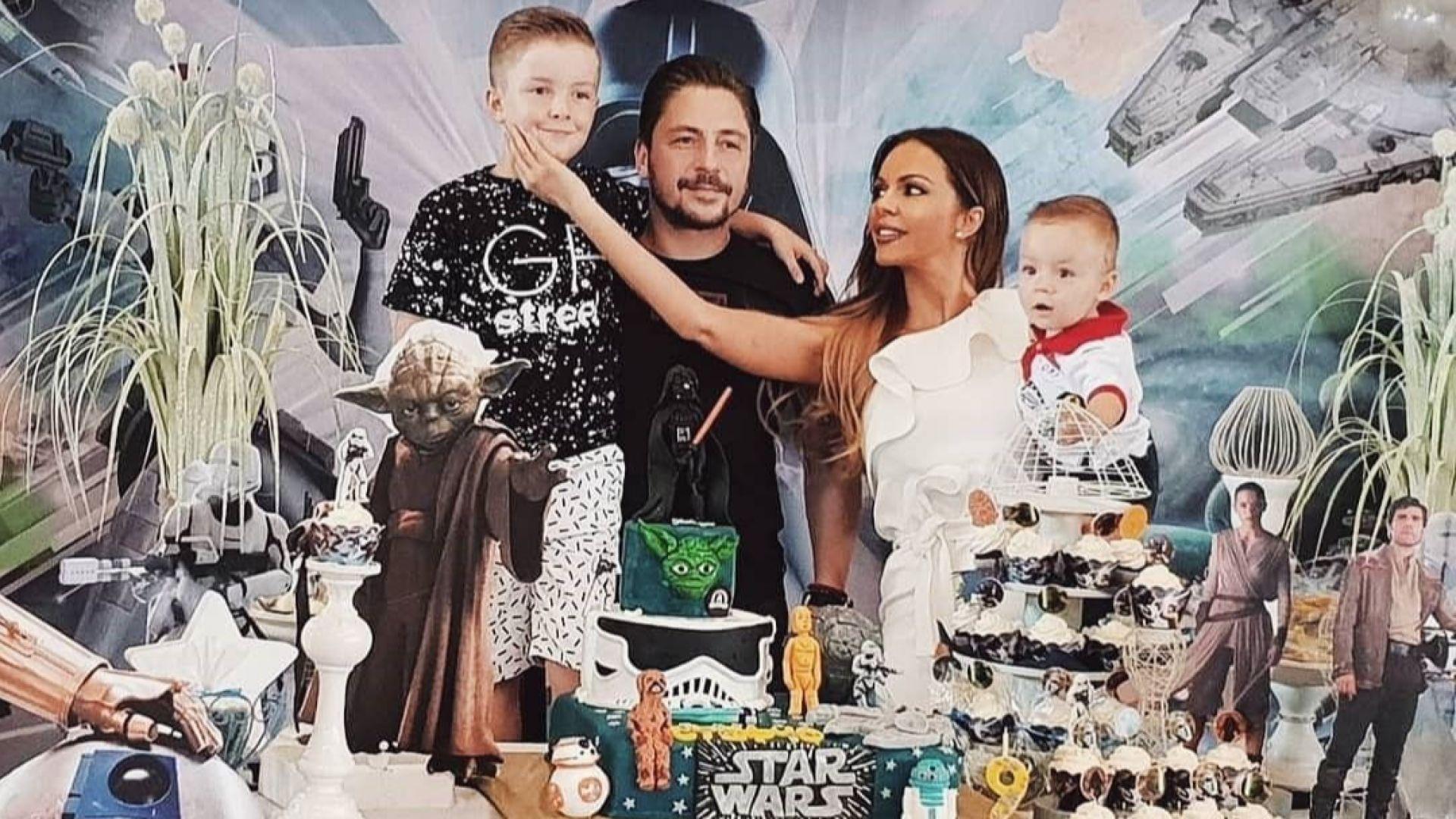 Галена отпразнува 9-ия рожден ден на сина си със Star Wars парти