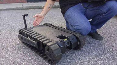 Правят робот с обоняние на ловно куче