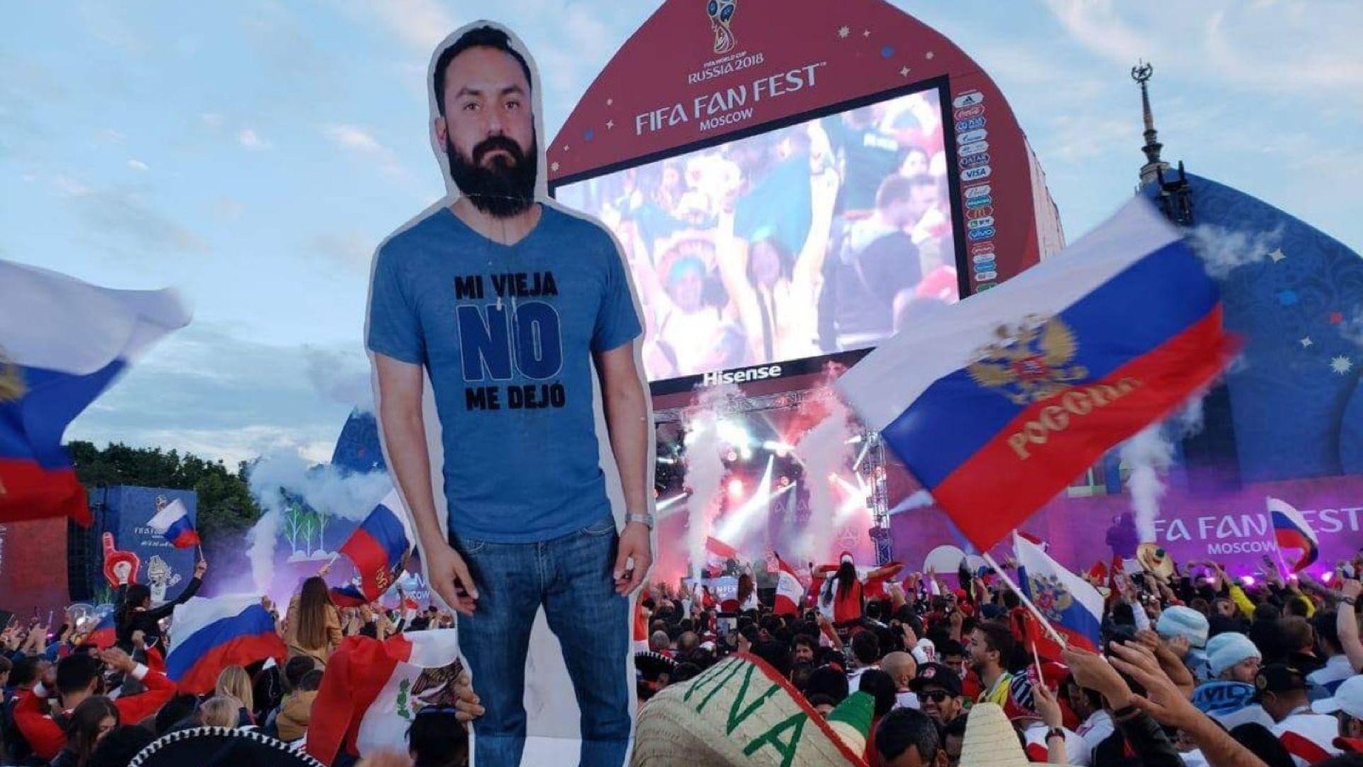 """""""Картоненият Хавиер"""" пристигна в Русия"""