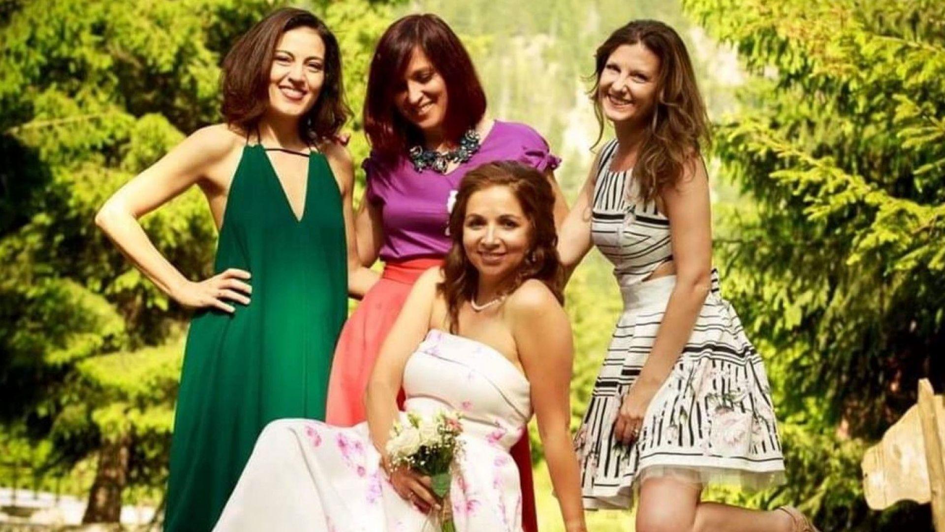 Ани Цолова, Миролюба Бенатова и Деси Стоянова шаферки на сватбата на Сарелска