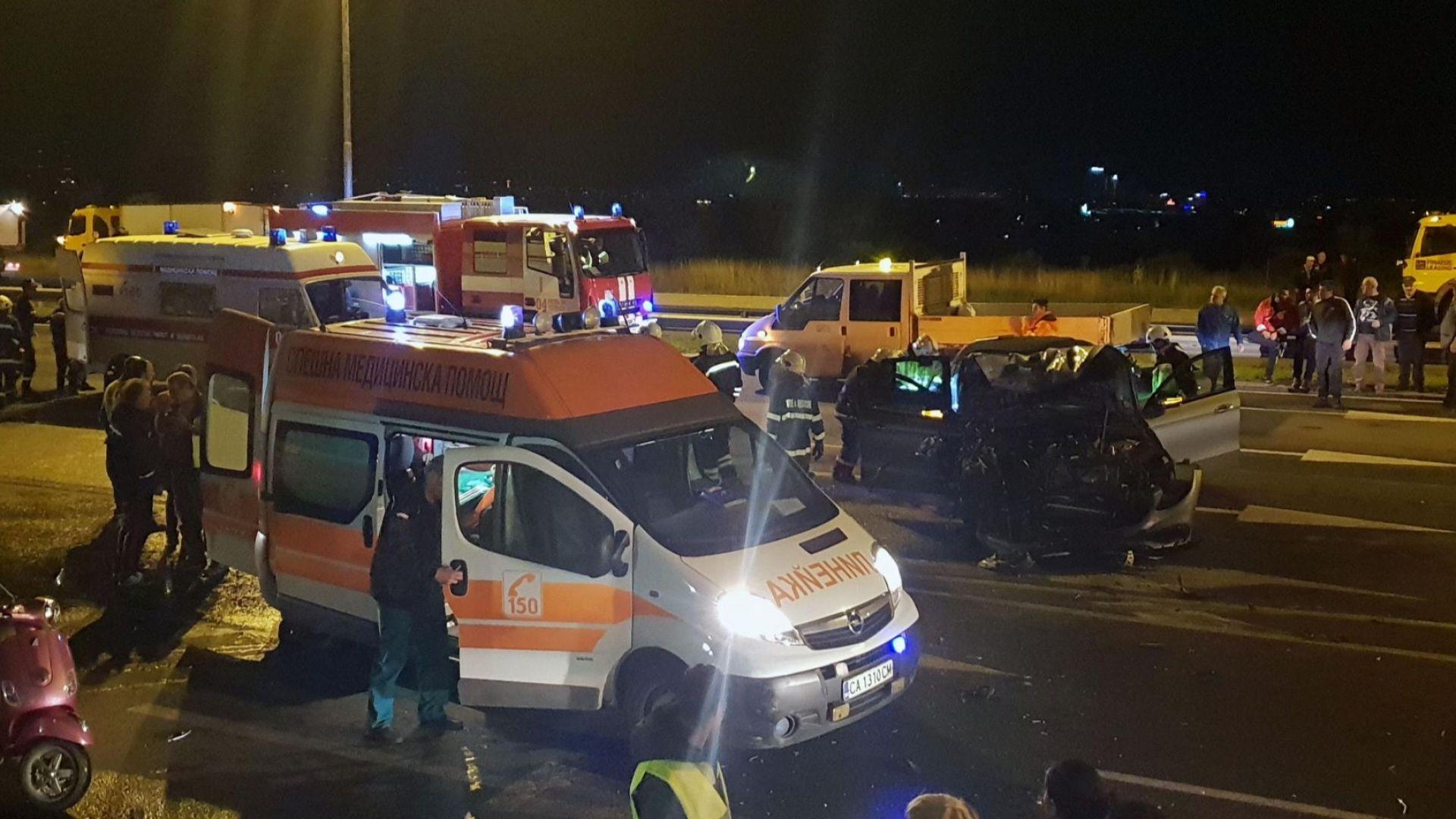 Тежка катастрофа е станала снощи в София