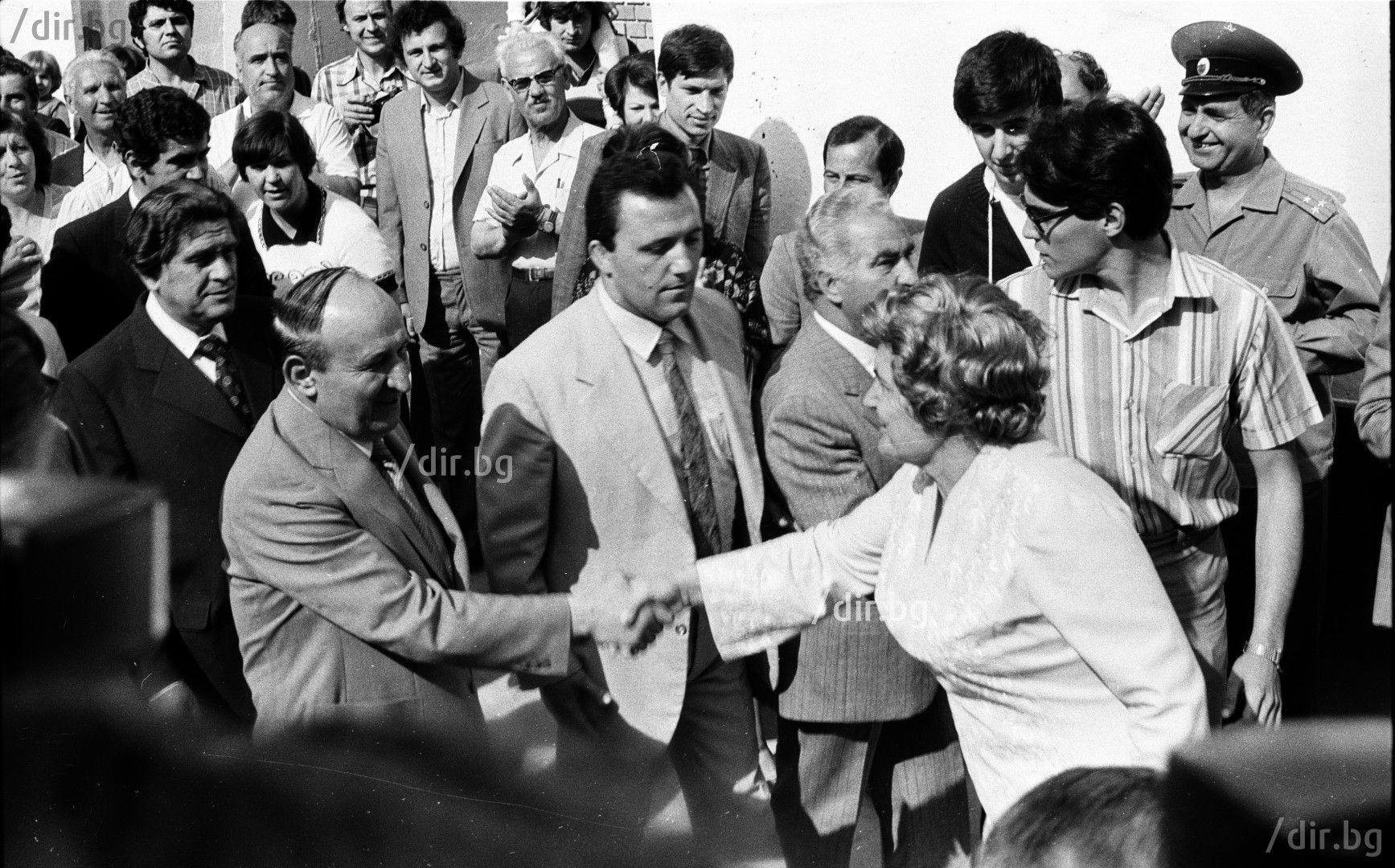 7 юни 1981 г. Като шеф на охраната на Тодор Живков (Снимка: Иван Григоров)