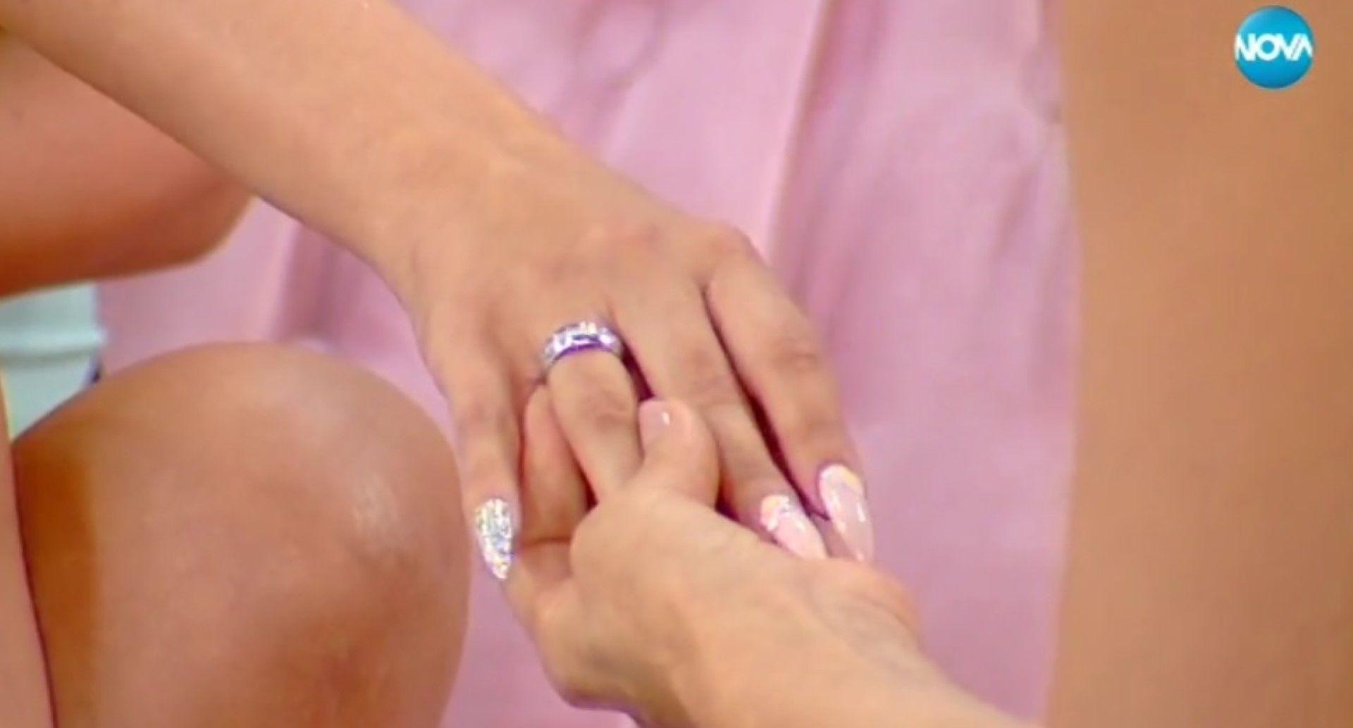 Халката на Антония с бяло и розово злато, и диаманти