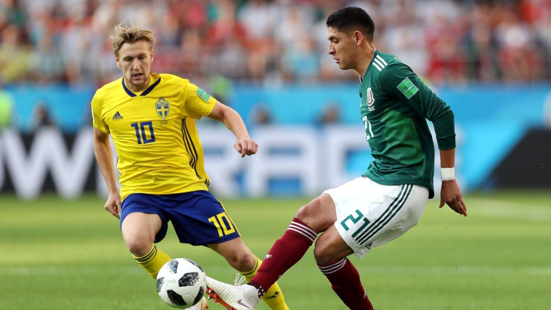 Мексико - Швеция 0:3 (статистика)