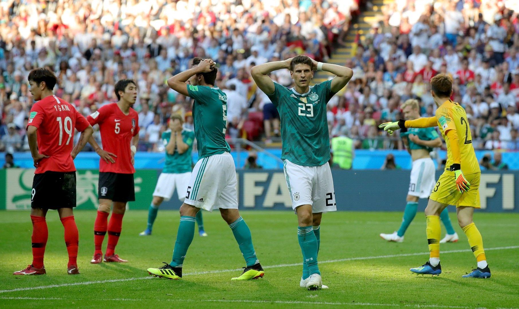 Германците срещу Корея, шампионът е извън играта!