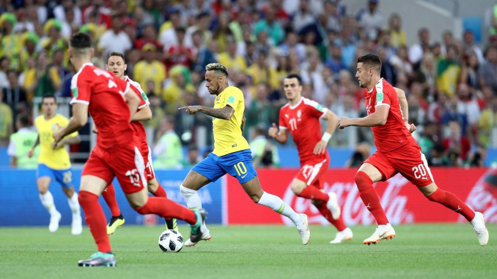 Сърбия - Бразилия 0:2 (статистика)