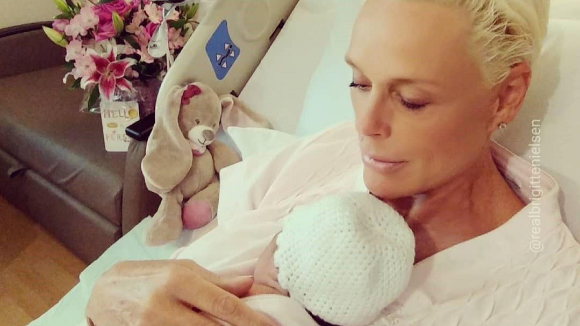 Бригите Нилсен показа новородената си дъщеря