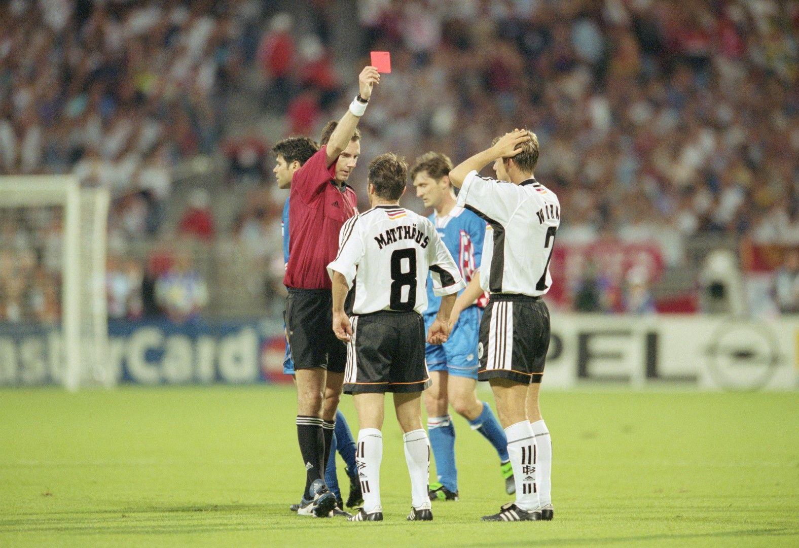 Мондиал 1998 г., четвъртфинал Германия - Хърватия. Сензационно 0:3, европейският шампион е разбит.